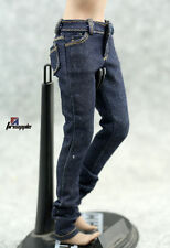 "1/6 Female Girl Navy Blue Jeans Slim Dress Leisure Pants for 12"" Action Figures"