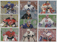 1994-95 Fleer Netminders Insert Set 10 Card Lot Roy Belfour Hasek NHL Hockey