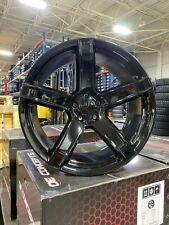 "4 New 2018 Dodge SRT Hellcat 20"" Gloss Black Wheels OE 20x9.5 Charger Challenger"