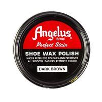Angelus Shoe Wax Polish 3fl Oz DARK BROWN NEW
