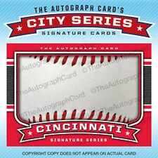 The Autograph Card Blank Signature cards 25 BASEBALL for Cincinnati Reds Auto