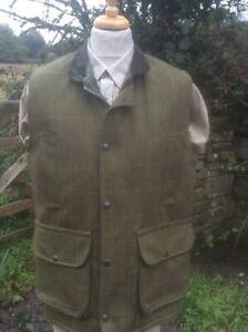 Mans Tweed Shooting Gilet Waistcoat Vest Wool rich Made in the U.K. shooting