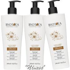 Moisturizing Body Milk 3 x 240ml Essential Care Byotea ® 100% Organic Argan
