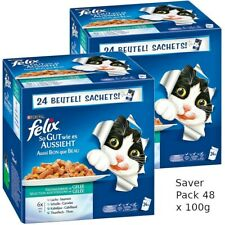 Super Pack 48 x 100g Felix As Good As It Looks  Wet Cat Food  in Jelly