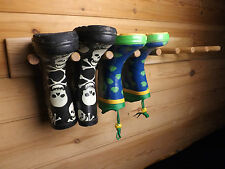 Wellington Boot Rack - Welly Rack in Oak Wall Mounted 4 pair size others in shop