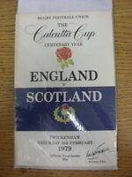 03/02/1979 Rugby Union Programme: England v Scotland [At Twickenham] (Light Crea