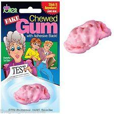 FUNNY FAKE PRETEND CHEWED CHEWING GUM JOKE GAG BOYS CHILDRENS NOVELTY GIFT