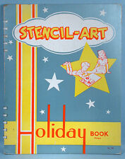 1950s Holiday Stencil Book Teacher School Classroom Christmas Halloween Easter