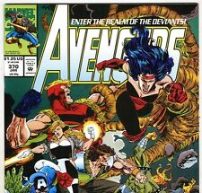 The AVENGERS #370 with Captain America & Vision from Jan 1994 in VF+ con. DM