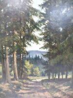 Gemälde Signiert COLLMAR - Waldweg  -B9