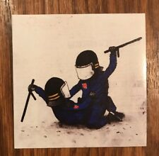 DRAN Police I HAVE CHALKS AUTHENTIC Mini Print Banksy Kaws FAILE Paris Pop up