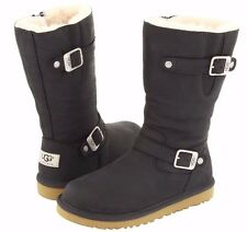 UGG AUSTRALIA KENSINGTON BLACK KIDS BOOTS US 4 FITS UK WOMENS 4 LAST PAIR NEW