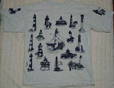 Vintage Northern Rag Co Light House All Over Print Single Stitch Shirt Size XL