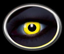 ZOE UV YELLOW lentille de couleur lens jaune contact halloween glow vampire gelb