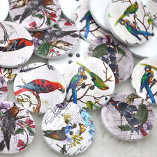 New 20pcs Big Birds Wood Buttons 30mm Sewing Craft Mix Lots WB268