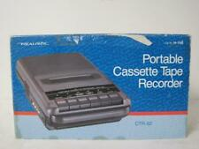 Realistic Portable Audio Cassette Tape Recorder  Player CTR-62 & AC Adapter Used