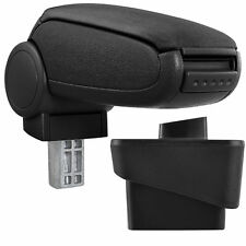 Centre Console Storage Box Car Armrest Perfekt Fit pro.tec imitation leather cover // black with red stitching inkl