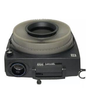Kodak Carousel 600H Slide Projector W/ 140 Slide Tray, Lamp & Lens TESTED EUC