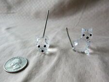 Lot of 2 Swarovski Small Cat/Kitten (7659) and Mouse (7655) Figures Figurines