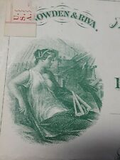 New York Waterhouse, Pearl & Co. Revenue Bank Check Uncirculated note 1850's