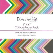 Dovecraft Essentials colores paquete de papel común - 6 X 6 paquete de muestra - 24 Hojas