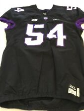 Game Worn Used Nike TCU Horned Frogs Football Jersey #54 Size XXL