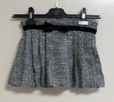 CESAR BLANCO pleated blue tweed skirt with blue bow SIZE 5 YEARS NEW CR180 EE 07