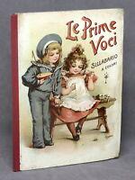 Libri bambini - Le prime voci - Sillabario a colori - Ed. Vallari - inizio '900