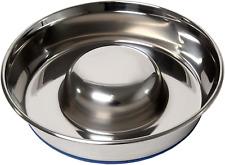 Slow Feeder Dog Bowl Pet Food Feeder Dish Non Slip Anti Choke Stainless Steel