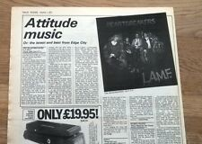 J THUNDERS & HEARTBREAKERS LAMF review 1977  UK ARTICLE / clipping