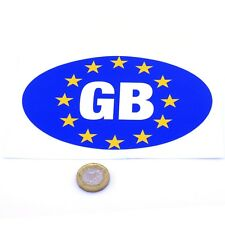 GB Euro Car Sticker Self Adhesive Oval Badge Vinyl Decal 150mm x 100mm