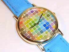 WATCH WITH BLUE STRAP - GUARANTEED + SPARE BATTERY - FREE UK P&P....CG1171