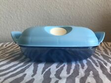 Tupperware Square Heat N Serve Crystal Pop Square #1Taffy Blue 2 Cups New