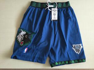 Minnesota Timberwolves Blue Retro Basketball Shorts Size: S-XXL