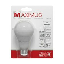 AMPOULE LED STANDARD E27 9W 806 LUMENS 2700K  BLANC CHAUD 25000 HEURES