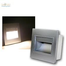 Wandeinbaustrahler Silber, COB-LED warmweiß Wandeinbauleuchte Treppenbeleuchtung