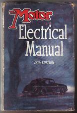 MOTORE ELETTRICO MANUALE TEMPIO stampa 1953 Cablaggio Batteria Starter BOBINA magnetiche +