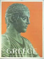 1956 Greece Delphi The Charioteer Statue Archaeological Museum Travel Poster