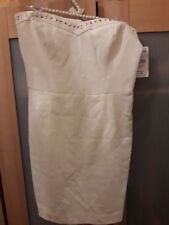 Zara Trafaluc Collection White Ecru Strapless Studs Dress Party Summer Spring
