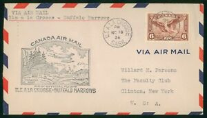 MayfairStamps 1936 Ile a la Crosse Saskatchewan to Buffalo Narrows Canada First