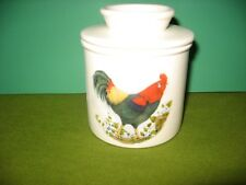 COUNTRY ROOSTER   CERAMIC BUTTER CROCK   MADE  IN  USA  FREE SHIPPING