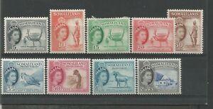 SOMALILAND 1953 QE II FINE LIGHTLY MOUNTED MINT SHORT SET TO 1/3d SG137/145