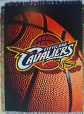 CLEVELAND CAVALIERS NBA WOVEN TAPESTRY THROW 48 X 60