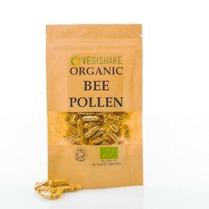 Organic Bee Pollen HPMC Capsules Honey Royal Multi Vitamin Vegan Kosher Halal