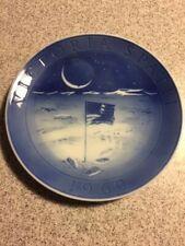 Royal Copenhagen Plate Moon Flag Blue Decorative 7 1/4 Inches