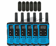 Motorola Talkabout T100TP Walkie Talkie 6 Pack Set Two Way Radios Blue Brand New
