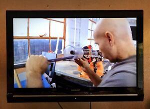 "SHARP 32"" HD Ready Digital Freeview LCD TV Inc. Hanging Wall Brackets"