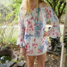 Long Sleeve Floral Bohemian Tops for Women