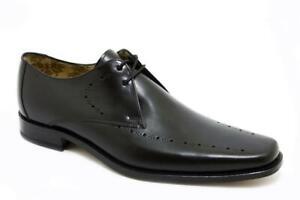 Loake Cosidos Premium Zapatos Hombre 2 Ojo Quinn Black