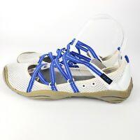 JAMBU J-41 Barefoot Design Sport Shoes Mesh Strap White Blue Straps Women's Sz 6
